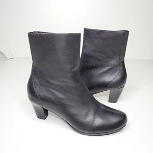 Aetrex Leather Ankle Boot Black Size 7